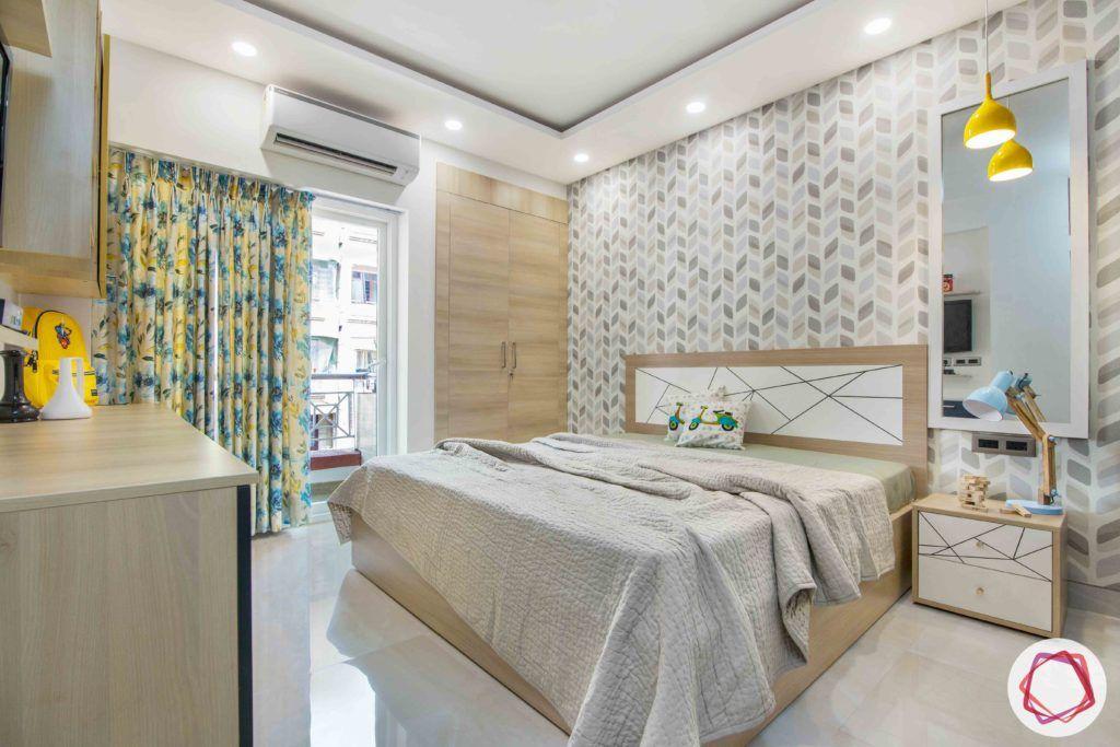 kids-bedroom-wallpaper-lights-wardrobe-lights-side-table