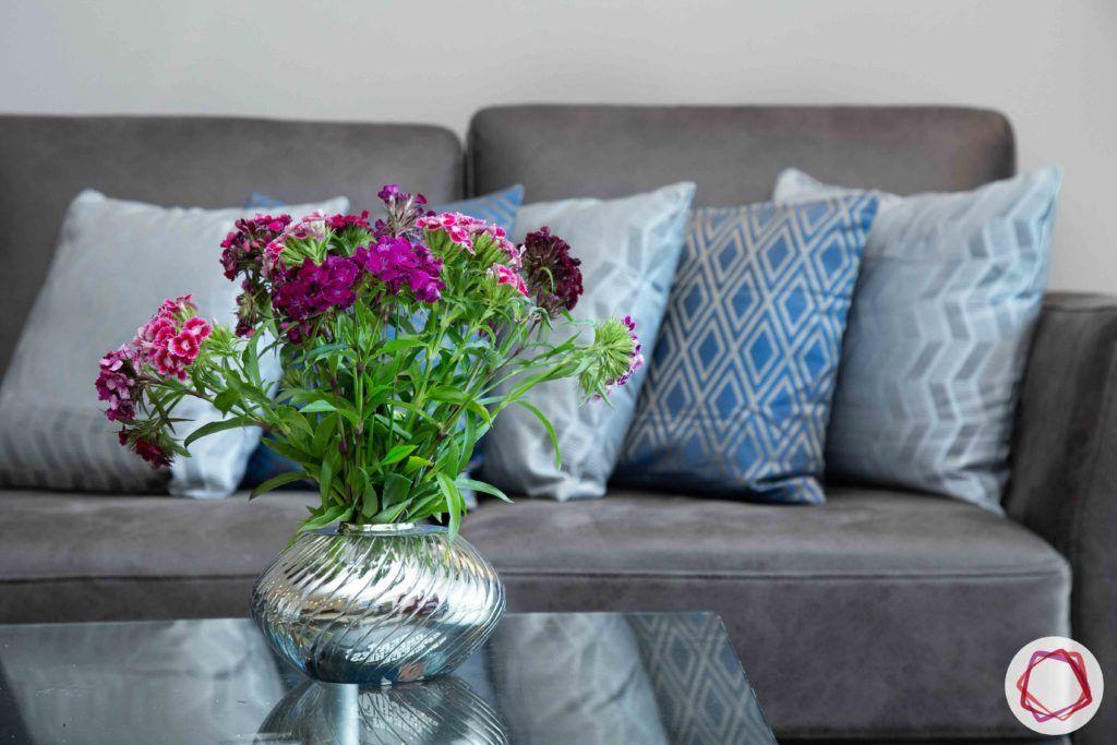 dlf gurgaon-grey sofa designs-glass centre table designs