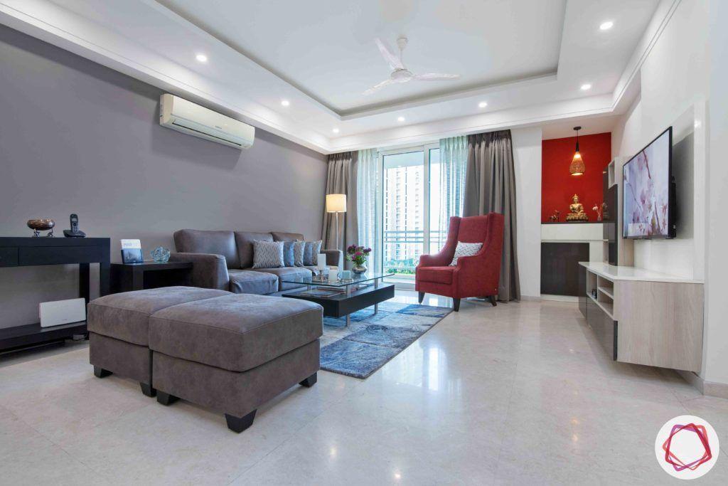 dlf gurgaon-grey sofa designs-blue carpet designs