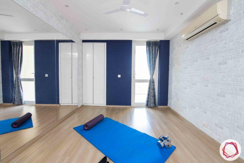 dlf gurgaon-wooden floor designs-exposed brick wallpaper designs