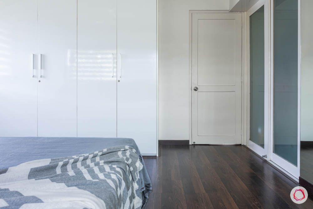 modern house images-master bedroom-laminate wardrobes-swing door wardrobe
