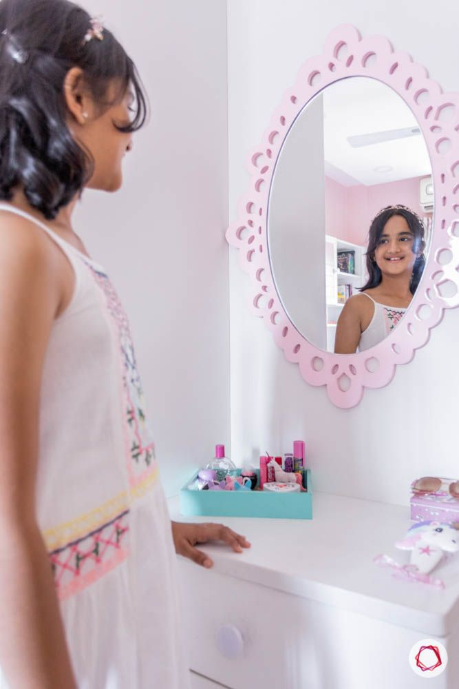 modern house images-kids room-dresser-statement mirror
