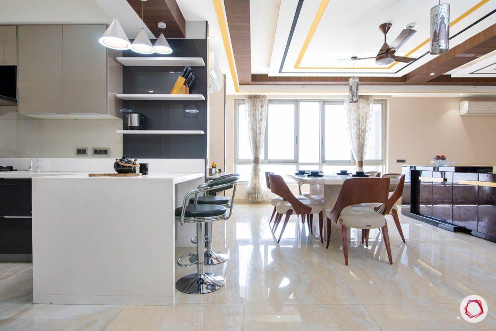 jaypee greens noida-marble dining set designs-breakfast counter designs
