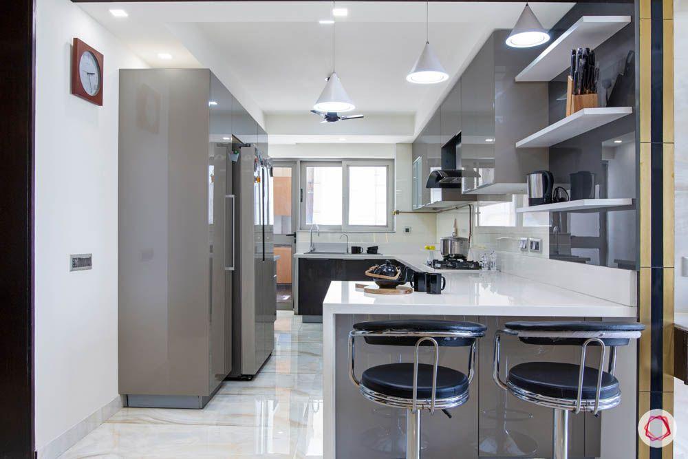 jaypee greens noida-quartz countertop designs-breakfast counter designs