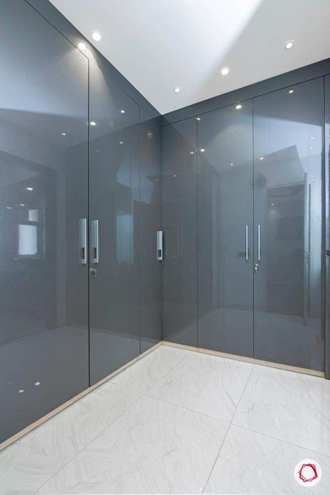 jaypee greens noida-walkin cabinet designs-grey acrylic wardrobe designs