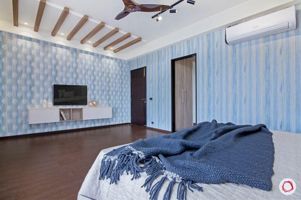 jaypee greens noida-wooden flooring designs-blue wallpaper designs