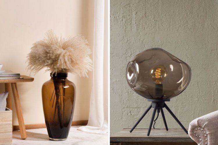 raksha bandhan-casamotion-glass vase-glass table lamp