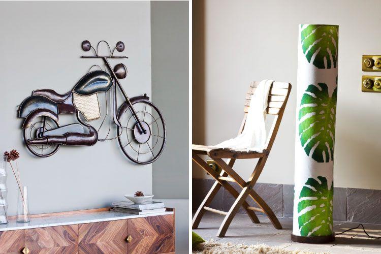 raksha bandhan-orangetree-bike wall decor-printed floor lamp