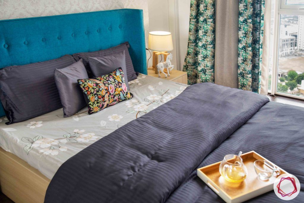 ireo victory valley-parents room-bed-blue headboard