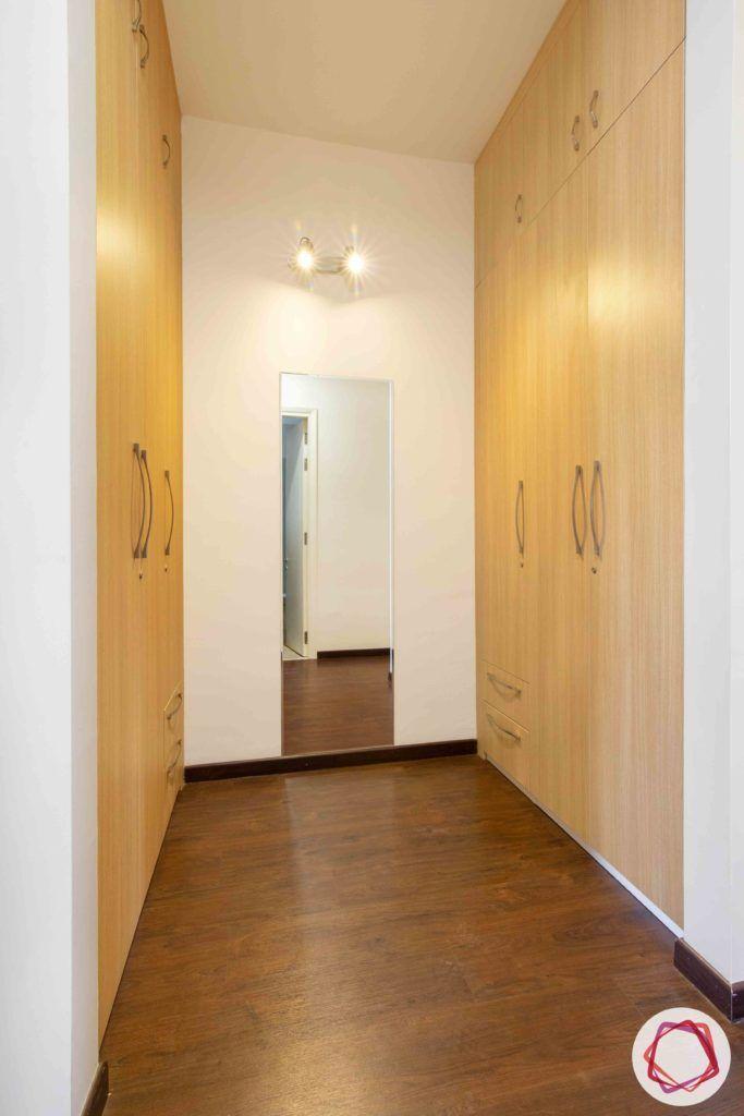 ireo victory valley-floral bedroom-walk in wardrobe-wooden wardrobe