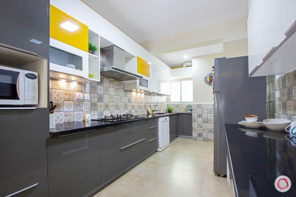 Vaswani Brentwood-slate-grey-kitchen-cabinets-white-orange-dado-tiles-lofts