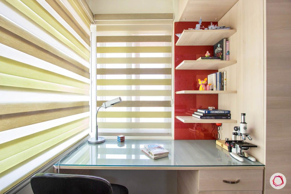 daughter-bedroom-blinds-study-red-panel-glass-top