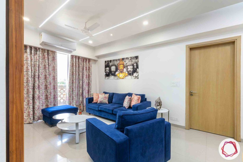 dlf new town heights-blue sofa designs-blue ottoman designs