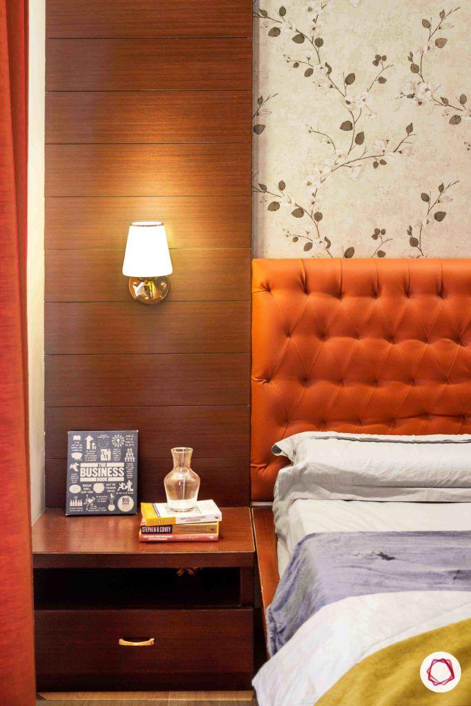 corner light-scone designs-orange headboard designs