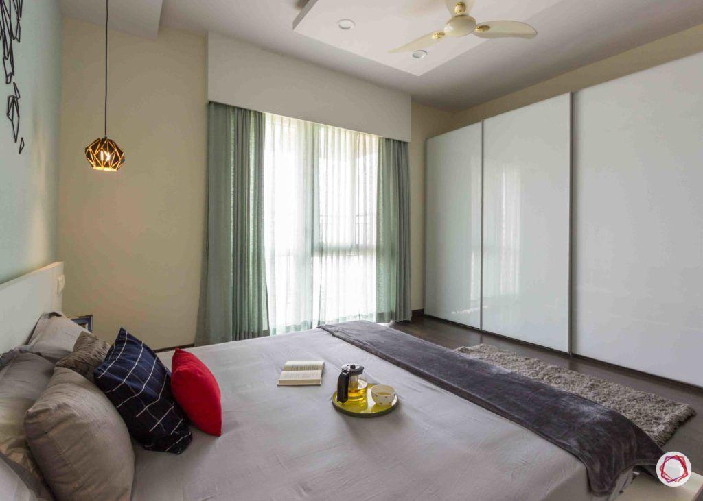 almirah designs for small rooms-doorless wardrobe designs-white sliding wardrobe design