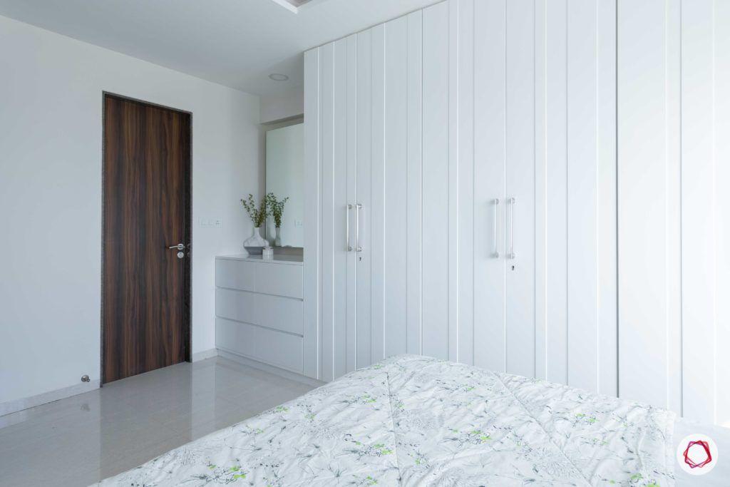 almirah designs for small rooms-all white interiors-white wardrobe designs