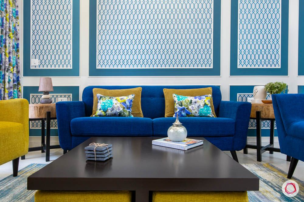 cleo county-living room-centre table-wall trims-wallpaper