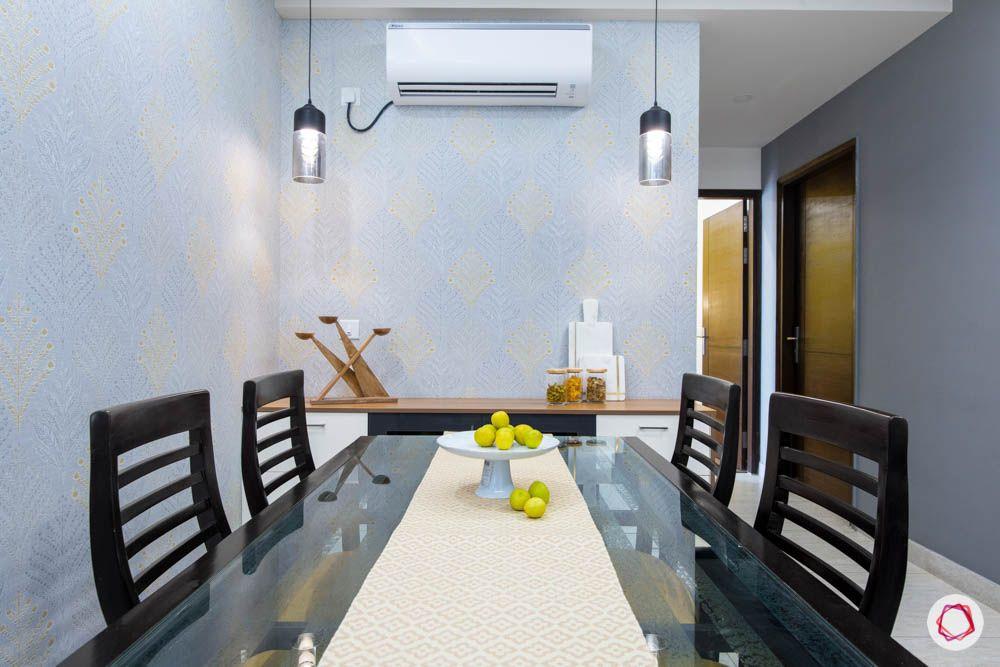 cleo county-dining room-pendant lights-laminate crockery unit-sideboard