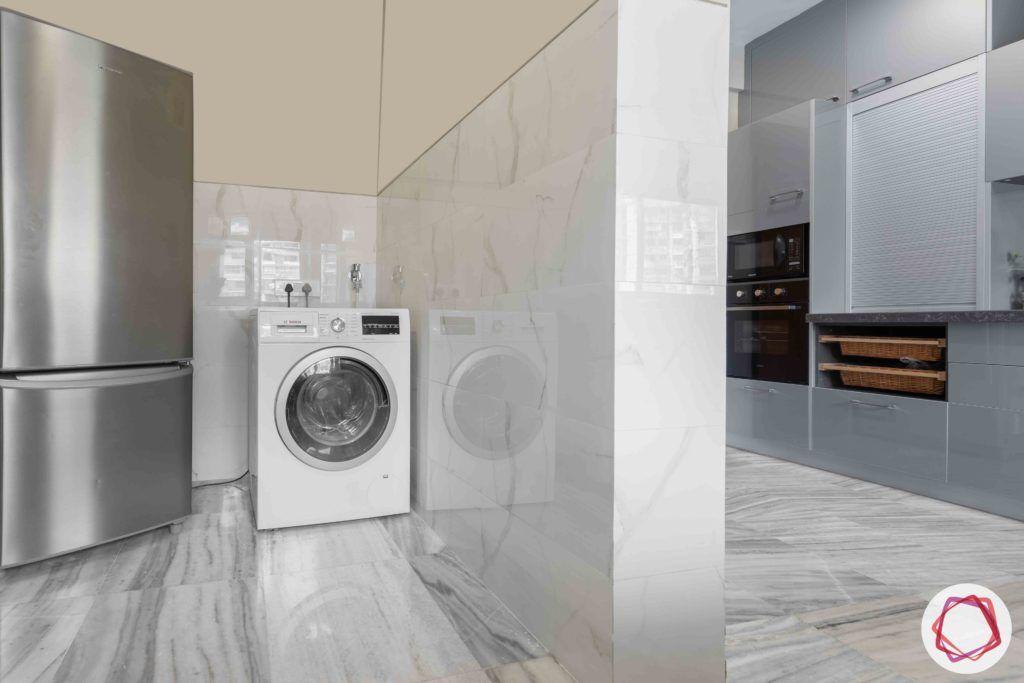 maker-tower-kitchen-washing-machine-fridge-flooring-cabinets