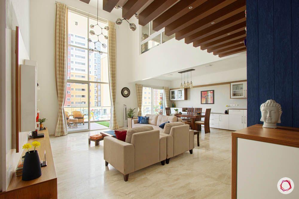 wooden rafter designs-floor-to-ceiling window designs