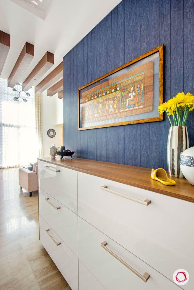 wooden rafter designs-blue wallpaper designs