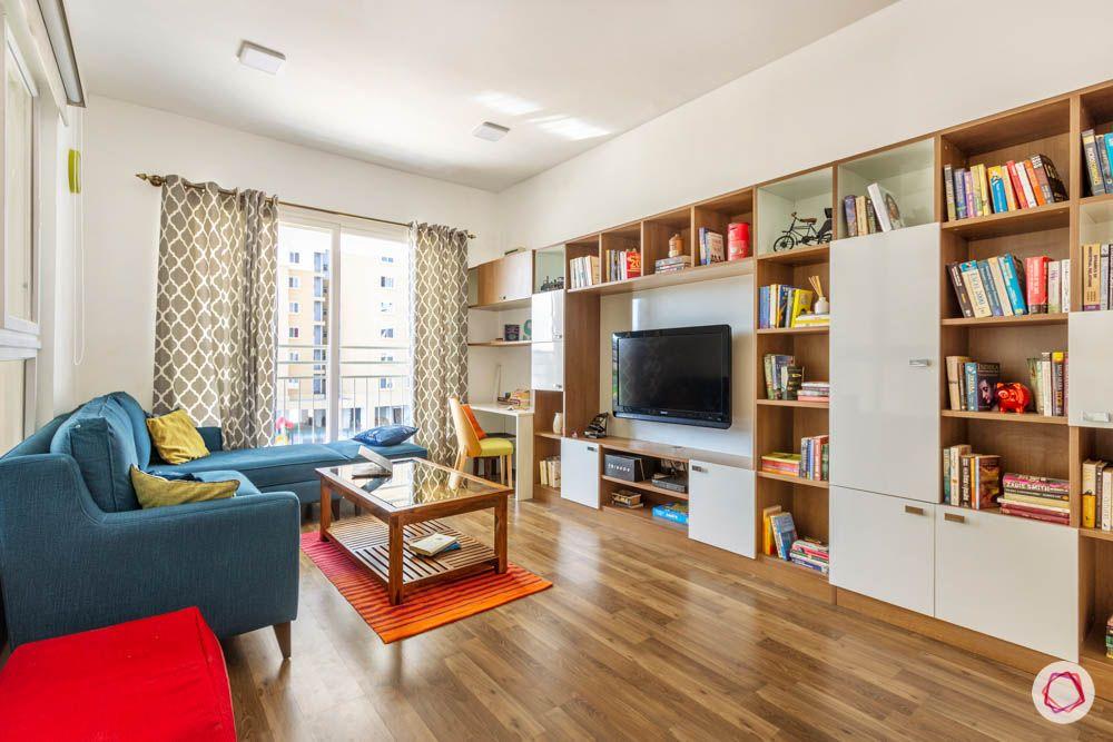wooden flooring designs-book shelf designs
