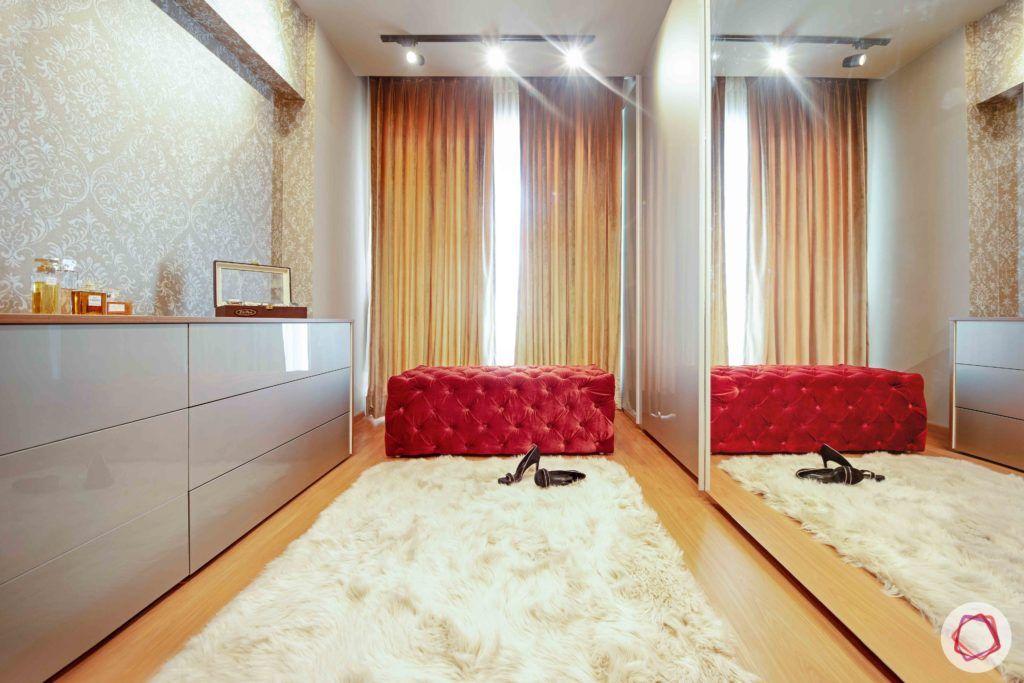 velvet fabric-seating-red velvet seating