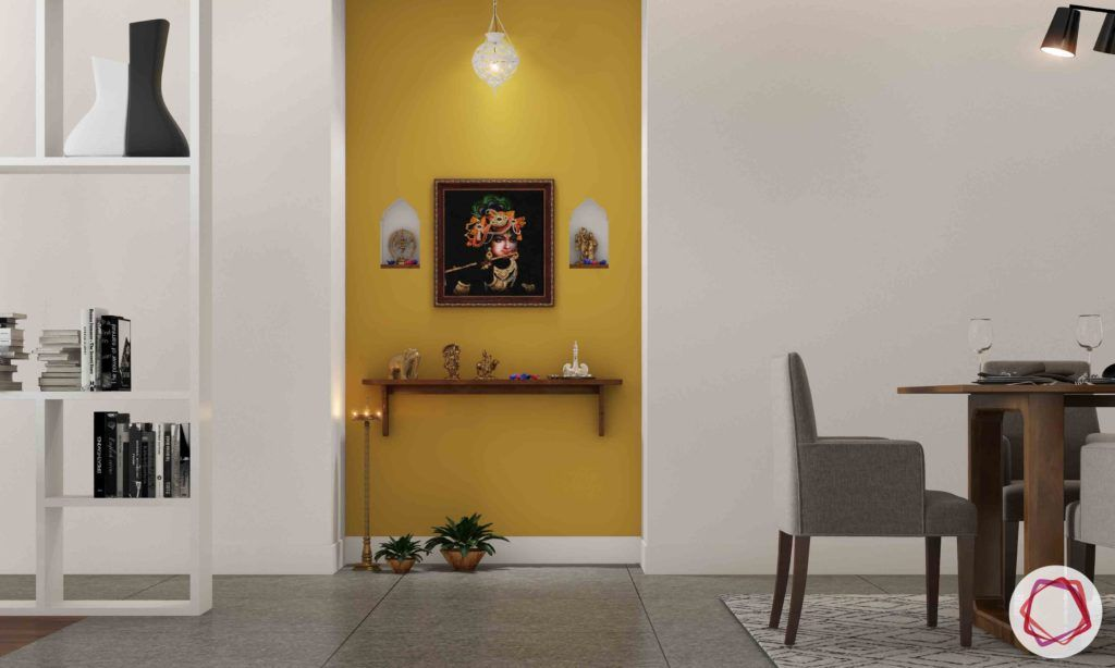 vaastu for homes-yellow wall ideas-pooja room designs