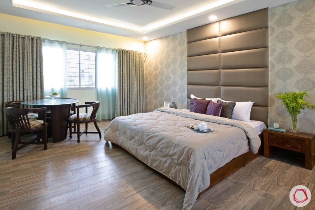 floor design-hardwood flooring-light wood floor-bedroom