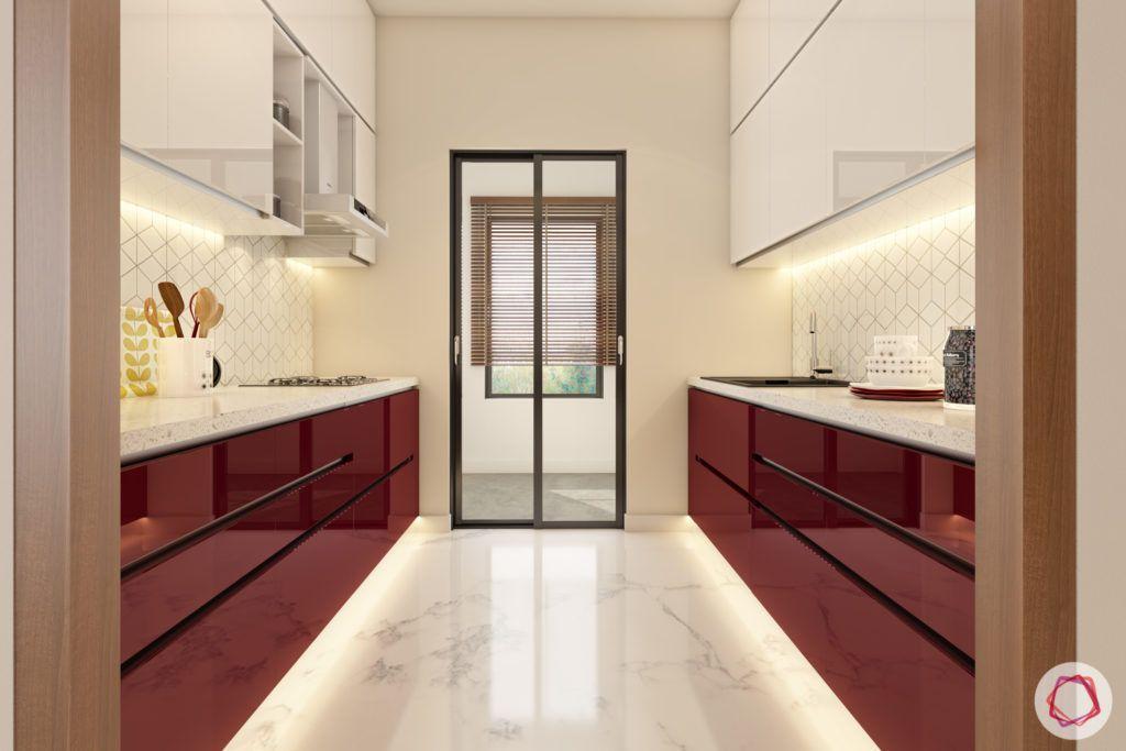 floor design-marble floor-kitchen-natural marble