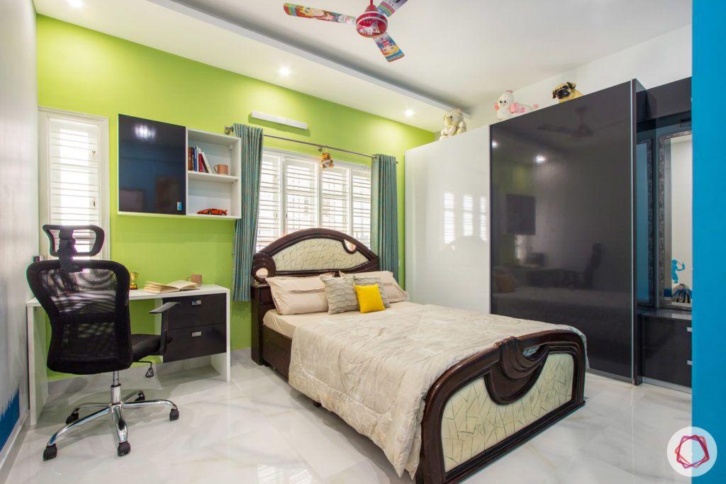 duplex house design-blue wall designs-green wall designs