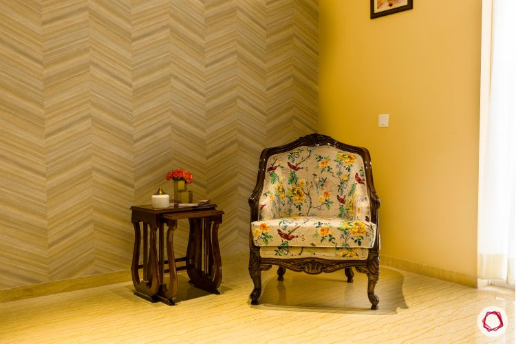 floral print-armchair designs-grey wallpaper designs