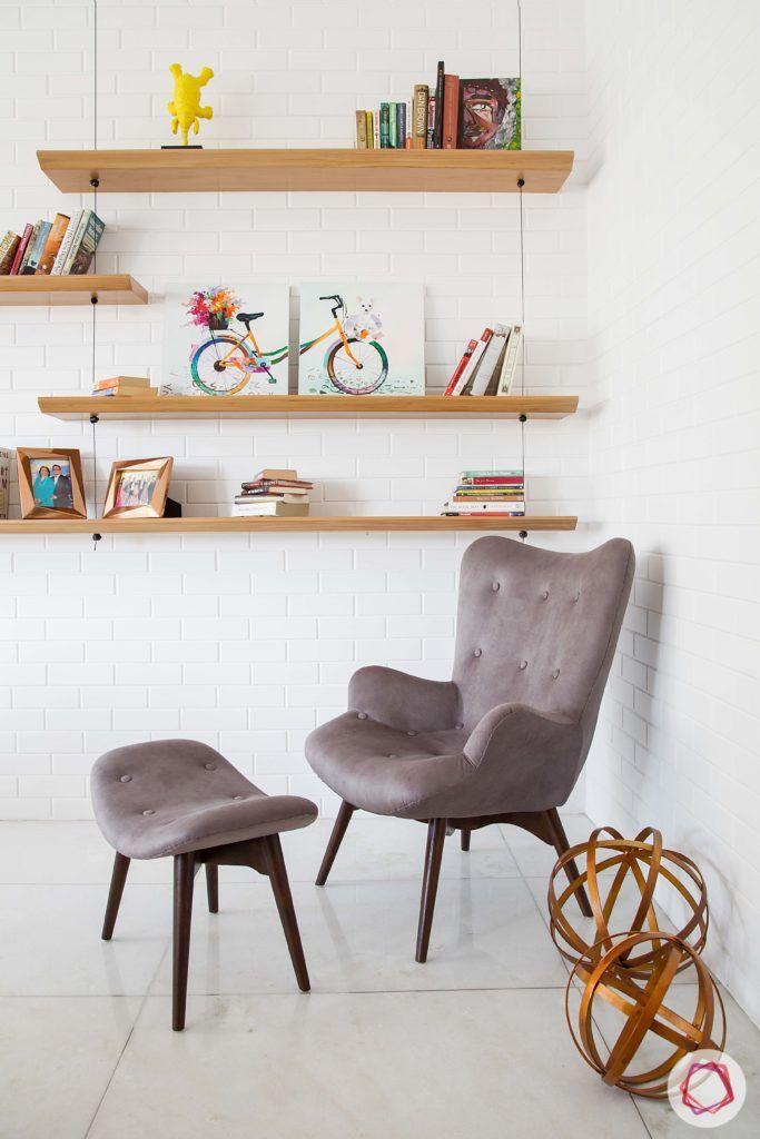 wall-shelf-design-hanging-shelves-study-room-chair-footstool