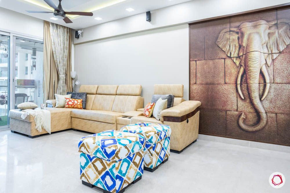 db woods-accent ottoman-elephant mural