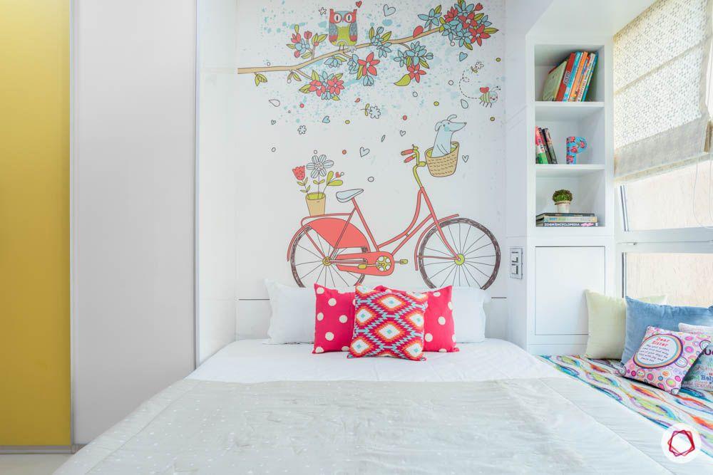 db woods-wall art-orange pillows