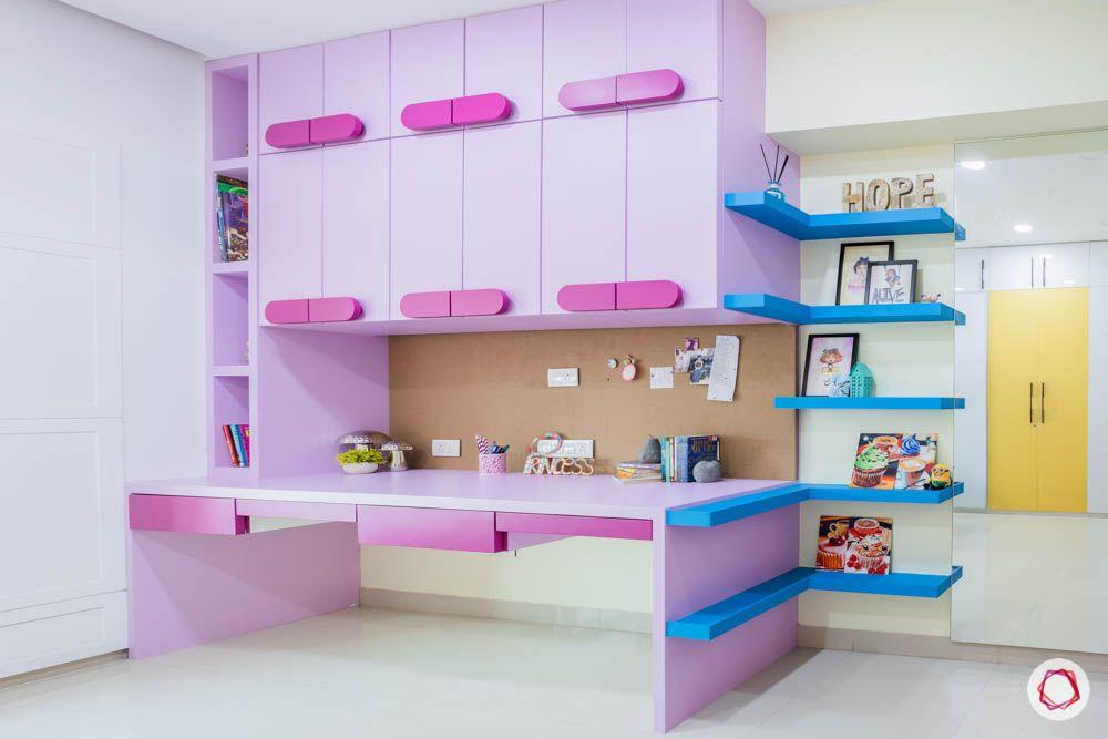 db woods-purple study-blue shelves