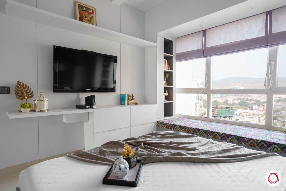 db woods-white walls-tv unit designs