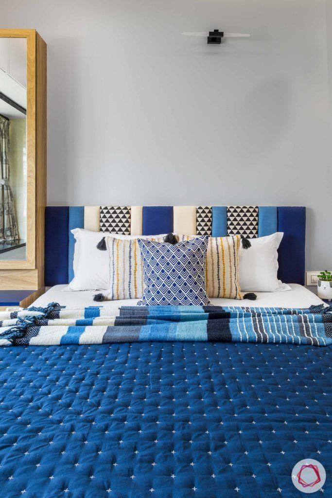 indian bedroom-upholstered headboard-refurbished headboard-fabric headboard