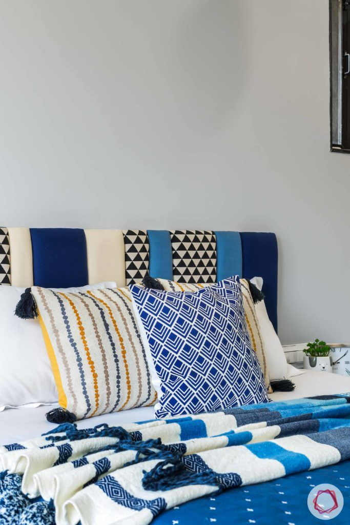 indian bedroom-printed fabric-headboard-patterned headboard