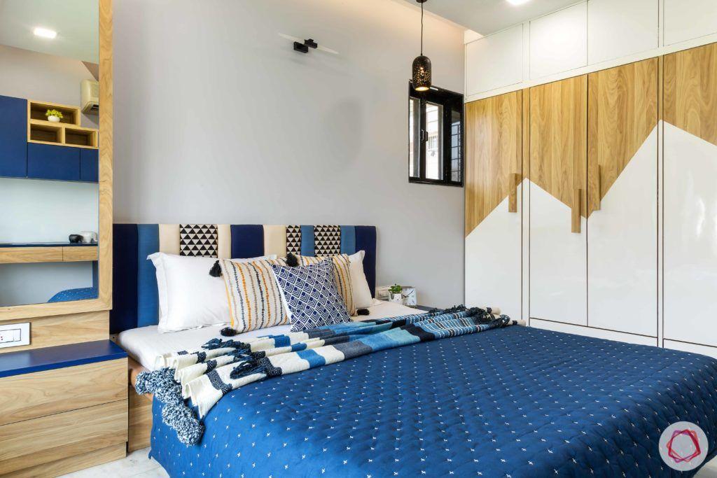 indian bedroom-wardrobe shutters-laminate wardrobes