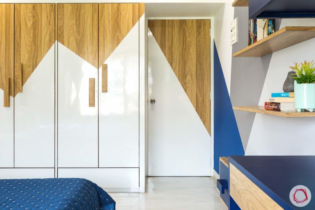 indian bedroom-mountain theme wardrobes-wardrobe shutter refurbish
