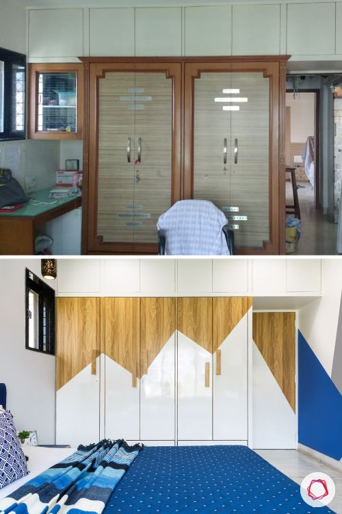 indian bedroom-wardrobes-before-after