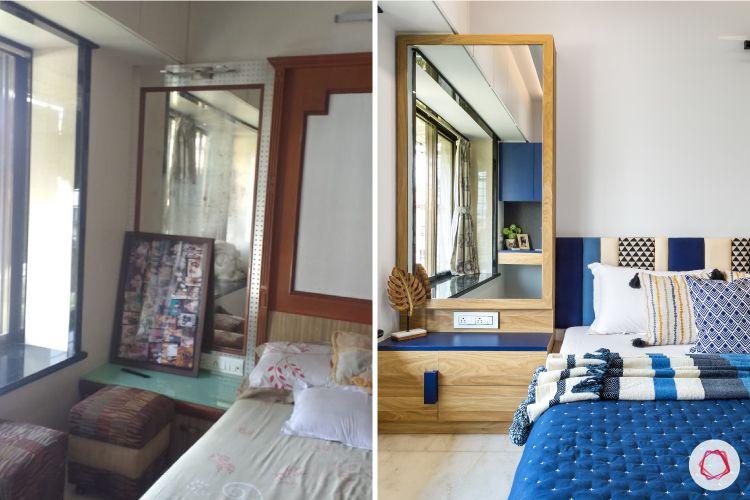 indian bedroom-dresser-before-after