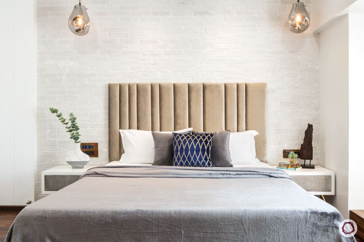 white brick wall-headboard designs designs
