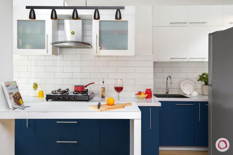 brick wall texture-white kitchen backsplash