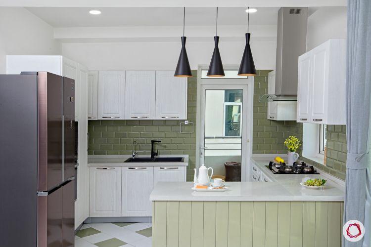 brick wall texture-minimal kitchen designs