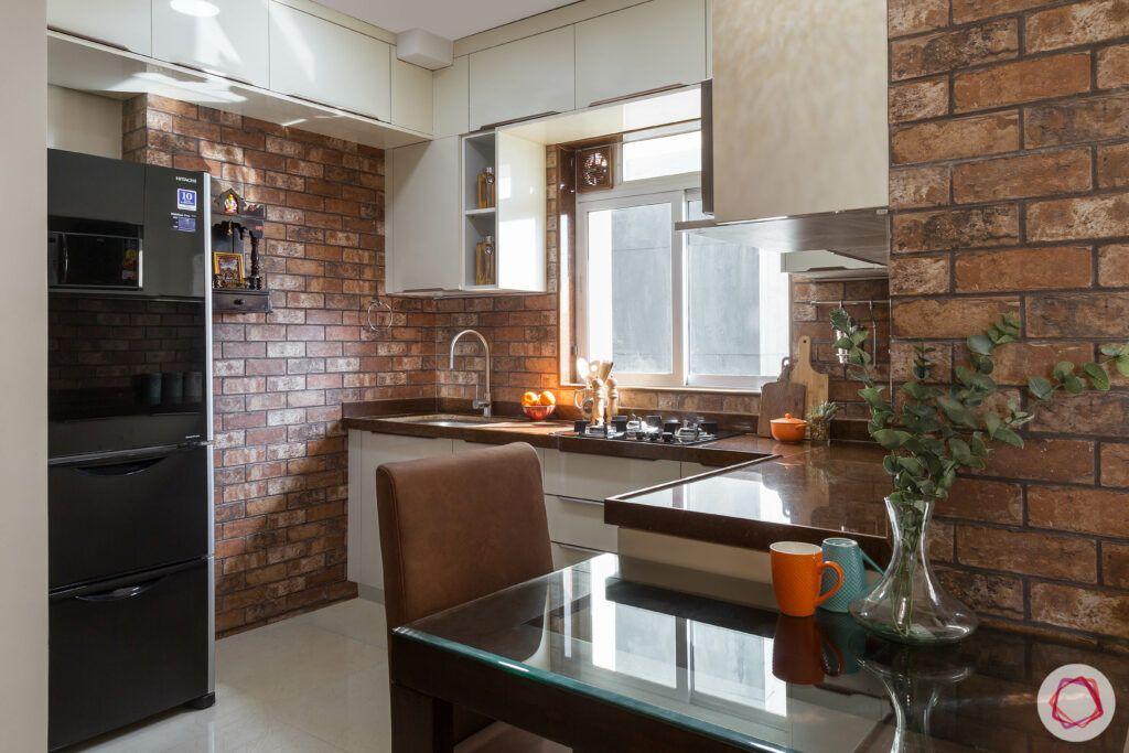 brick wall texture-kitchen table designs