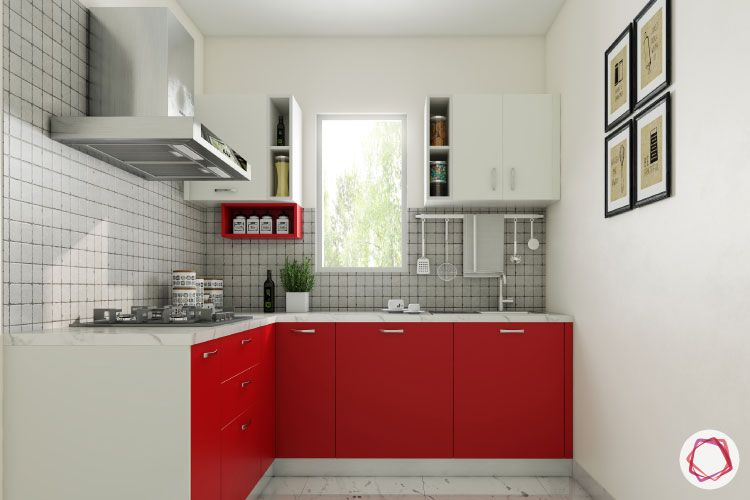 should-I-buy-a-kitchen-chimney-red kitchen cabinets-small kitchen designs