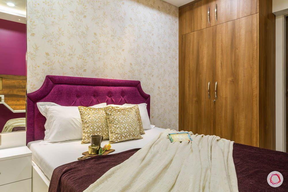4 bhk flat in mumbai-master bedroom-laminate wardrobes