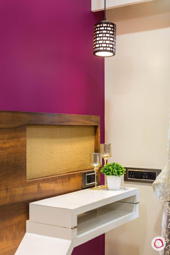 4 bhk flat in mumbai-master bedroom-tv unit-foldable table